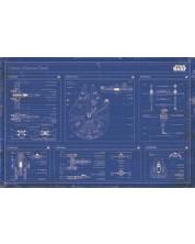 Poster maxi Pyramid - Star Wars - Rebel alliance fleet blueprint