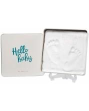 Cutie si kit pentru amprenta bebe Baby Art - Hello Baby -1