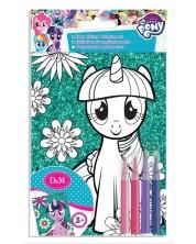 Set creativ Revontuli Toys Oy - Coloreaza singur o imagine stralucitoare, My little pony