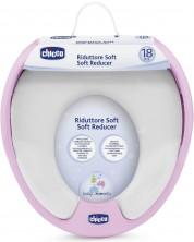 Colac WC moale  pentru copii Chicco, ROz -1