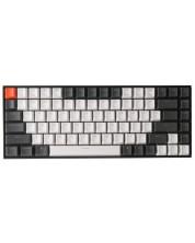 Tastatura mecanica Keychron - K2, Gateron Blue, H-S, LED, neagra