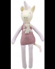 Papusa moale The Puppet Company - Unicorn cu pui, 30 cm