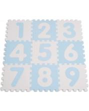 Puzzle pardoseala din spuma moale pentru copii  Sun Ta - Cifre, 9 piese, albastru -1