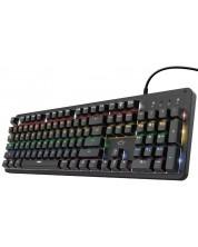 Tastatura mecanica Trust - GXT 863, Outemu Red, LED, neagra