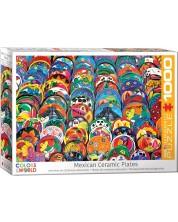 Puzzle Eurographics de 1000 piese - Farfurii ceramice mexicane