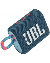 Mini boxa JBL - Go 3, albastra/roza