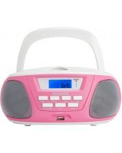 Mini sistem audio  Aiwa - BBTU-300PK, roz