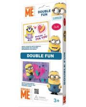 Set creativ Revontuli Toys Oy - Puzzle si gravura, dublu, Minions