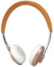 Casti wireless cu microfon Microlab - T3, maro