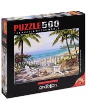 Puzzle Anatolian de 500 piese - Vedere spre mare, Sung Kim