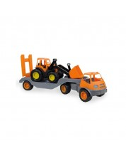 Camion Mochtoys - cu buldozer si roti din cauciuc -1