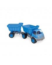 Camion Mochtoys - Cu remorca si roti din cauciuc -1