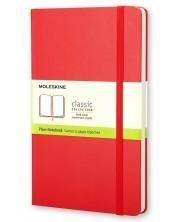 Agenda cu coperti tari Moleskine Classic – Rosie, file albe -1