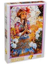 Puzzle Gold Puzzle de 1000 piese - Fata cu umbrela deschisa