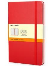 Agenda cu coperta tare Moleskine Classic – Rosie, file liniate -1