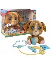 Jucarie de plus, care plange cu lacrimi Giochi Cry Pets - Caine, cu accesorii veterinare