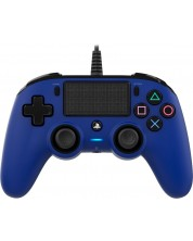 Controller Nacon за PS4 - Wired Compact, albastru