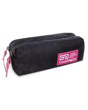 Penar scolar dreptunghiular Cool Pack Edge - Pink Glitter, cu 2 fermoare