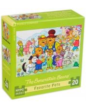 Puzzle New York Puzzle de 20 piese - Animalele de companie preferate