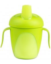 Cana antivarsare cu cioc tare Canpol - Penguin cup, verde, 240ml -1