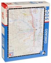 Puzzle New York Puzzle de 500 piese - Harta de transport, Chicago