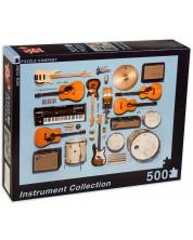 Puzzle New York Puzzle de 500 piese - Colectie de instrumente muzicale