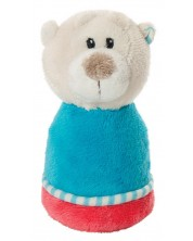 Zornaitoare de plus pentru bebelusi My First Nici - Ursulet, 10 cm -1