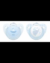 Suzeta Nuk Blue, 2 buc., 6-18 luni + cutie -1