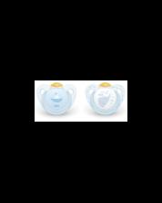 Suzeta NUK Blue, 2 buc, 6-18 luni + cutie -1