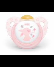 Suzeta NUK Rose - Iepuras, 6-18 luni + cutie -1