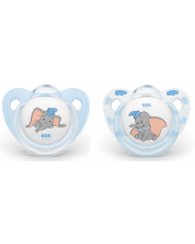 Suzeta NUK - Dumbo, 2 buc., 0-6 luni + cutie  -1