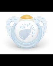 Suzeta NUK Blue - Elefant, 0-6 luni + cutie -1