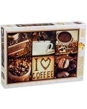 Puzzle Gold Puzzle de 1000 piese - Iubesc cafea