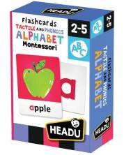 Carti flash educative Headu Montessori - Cu alfabet tactil si fonetic -1