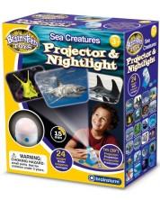 Jucarie educativa Brainstorm - Proiector si lampa de noapte, lumea marina