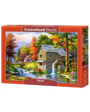 Puzzle Castorland de 500 piese - Vechea moara, Sung Kim