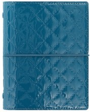 Organizator Filofax Pocket - Domino Luxe, albastru