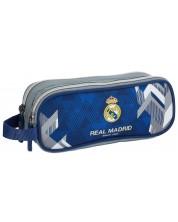 Penar scolar oval Astra FC Real Madrid - FC-177, cu 2 compartimente si maner