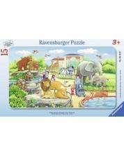 Puzzle Ravensburger de 15 piese - Plimbare in gradina zoologica
