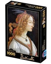 Puzzle D-Toys de 1000 piese - Idealised Portrait of a Lady -1