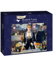 Puzzle Bluebird de 1000 piese - A Bar at the Folies-Bergère, 1882