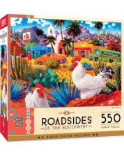 Puzzle Master Pieces de 550 piese -Gallos Blancos