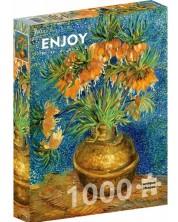 Puzzle Enjoy de 1000 piese - Fritillaries in a Copper Vase