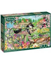 Puzzle Falcon de 500 piese - Spring Garden Birds -1