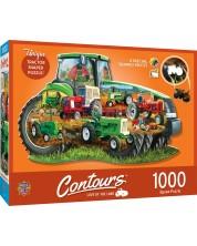 Puzzle Master Pieces de 1000 piese - Tractor shape
