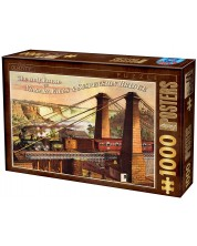 Puzzle D-Toys de 1000 piese - The only Route via Niagara Falls & Suspension Bridge -1