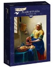 Puzzle Bluebird de 1000 piese - The Milkmaid, 1658