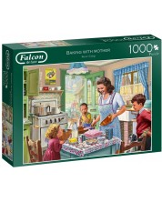 Puzzle  Falcon de 1000 piese - Baking with Mother -1