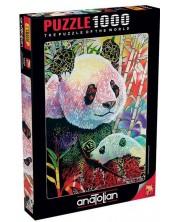 Puzzle Anatolian de 1000 piese - Panda colorat