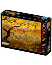 Puzzle D-Toys de 1000 piese - Apple Tree with Red Fruit -1